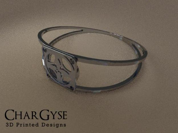Elegant Bangle - Four Petal Flow 3d printed Rendered in Blender
