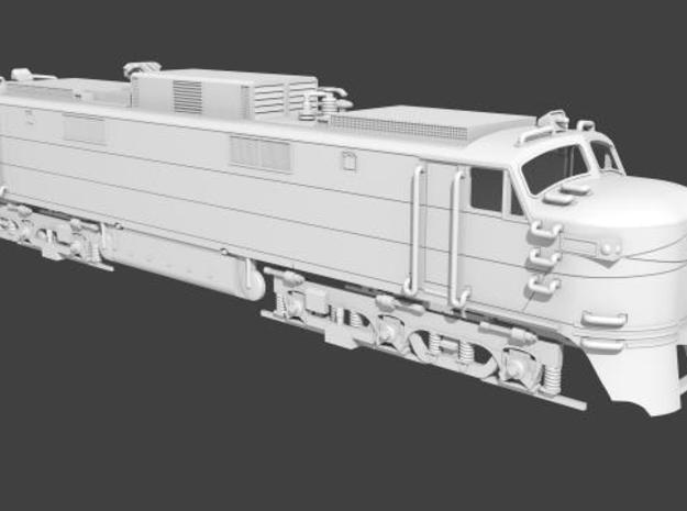NEP504 N scale EP-5 loco - modified + guides 3d printed