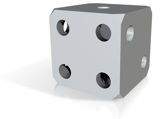 Hollow Dice 3d printed Rendered