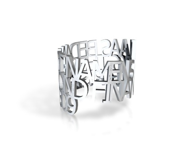 Ring Poem kLAAS2 3d printed