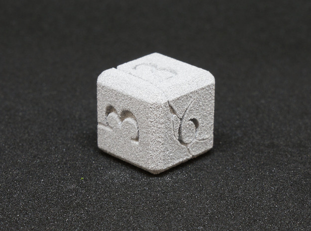 Elemental NonTransitive Dice 3d printed Earth