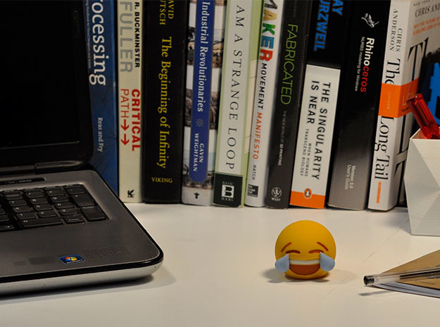 3D Emoji Laugh 'Til You Cry 3d printed