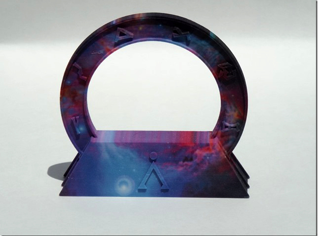 Abydos Stargate with Orion Nebula 3d printed Front of actual product