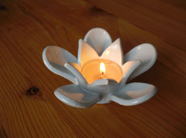 Tea light holder lily 3d printed