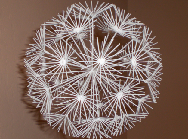 Dandelion 3d printed Large 'dandelion' model, weighs 1/2 oz, spins in a slight breeze...