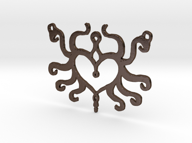 :Heart Tentacle: Pendant 3d printed