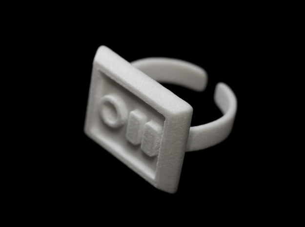 Not a Stormtrooper Ring (Size 9-10) 3d printed Thing ring is flexible to fit a few different sized fingers