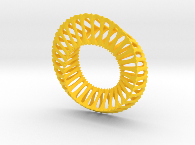 Tri Mobius Band Ribbed B 100mm 3d printed