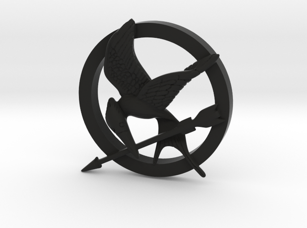 Mocking Jay Pendant 3d printed