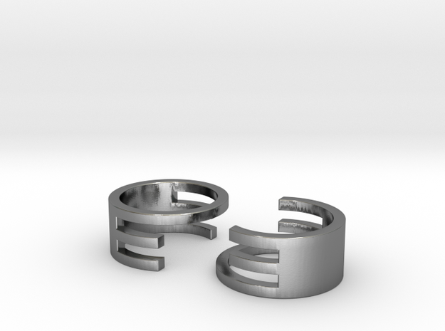 Interlocking Rings (US size 6.5) 3d printed