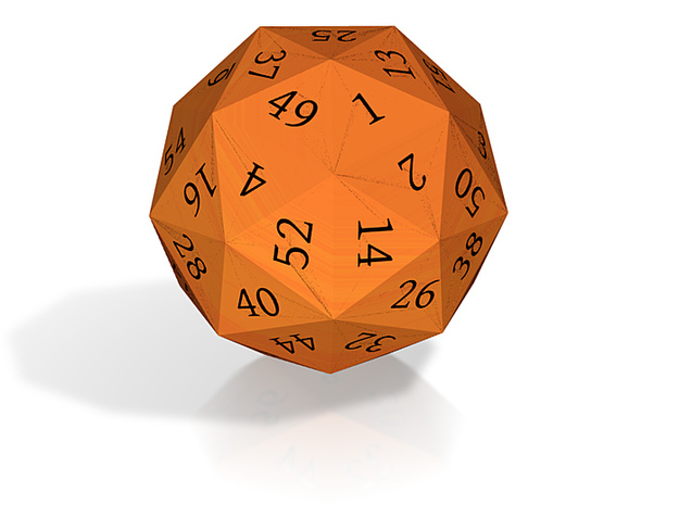Bright Orange d60 3d printed