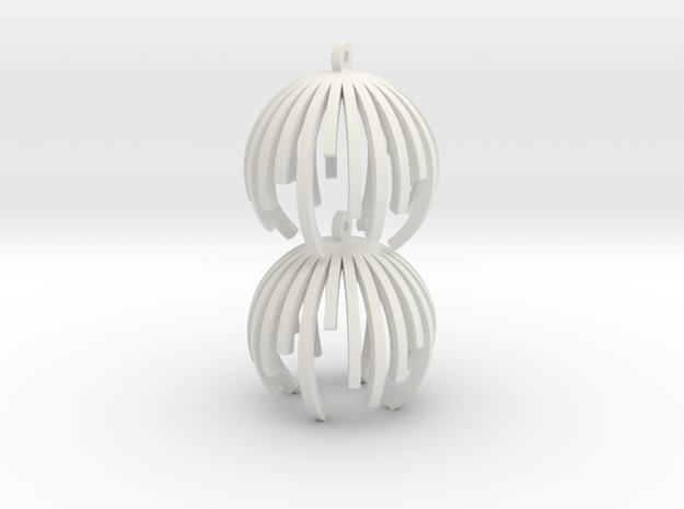 TIME - earrings 3d printed