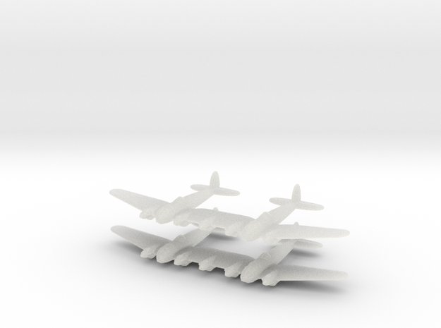 He-111Z Bomber= 1/700 (x2) 3d printed