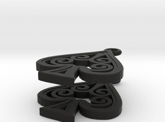 Ace Earrings - Spades 3d printed