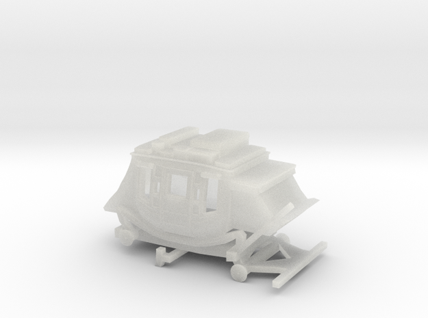 N Scale Stagecoach - Wide, No Wheels 3d printed