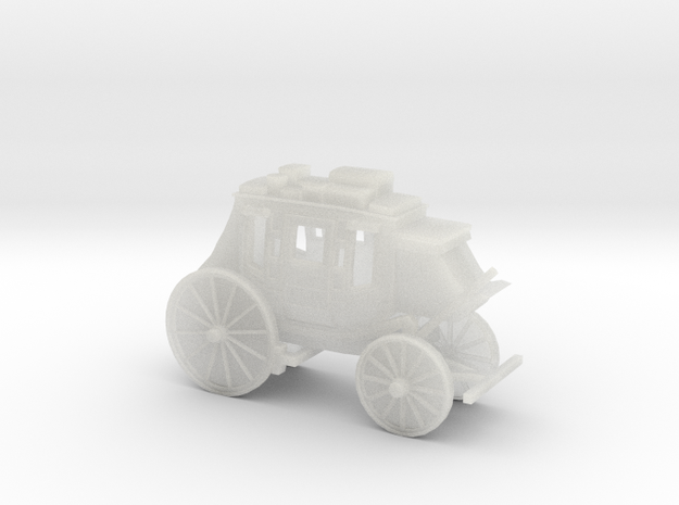 N Scale Stagecoach 3d printed