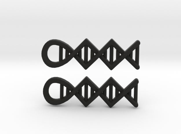 DNA earrings 3d printed