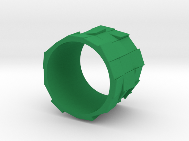 Faceted ring 01 17mm 3d printed