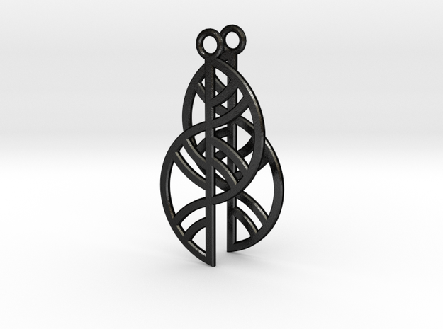 GeometricTrellis Earrings - 3D Printed in Metal 3d printed