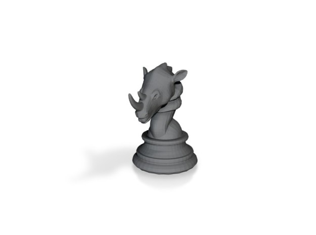 Chess piece – Rhino as Rook 3d printed