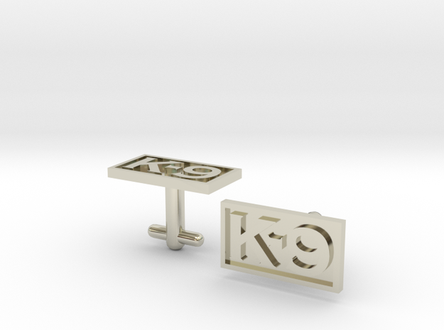 K-9 Cufflinks Silver, Brass, or Gold 3d printed