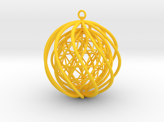 Suspended Icosahedron Ornament 3d printed