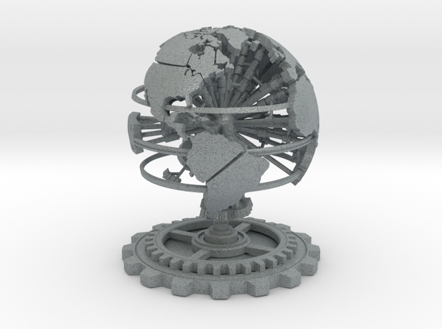 Steampunk World Small 6x6x7 3d printed