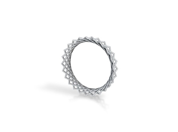 Hyperboloid ring 3d printed