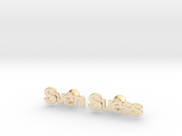 "Custom Name Cufflinks - ""Sven Suess"" 3d printed"