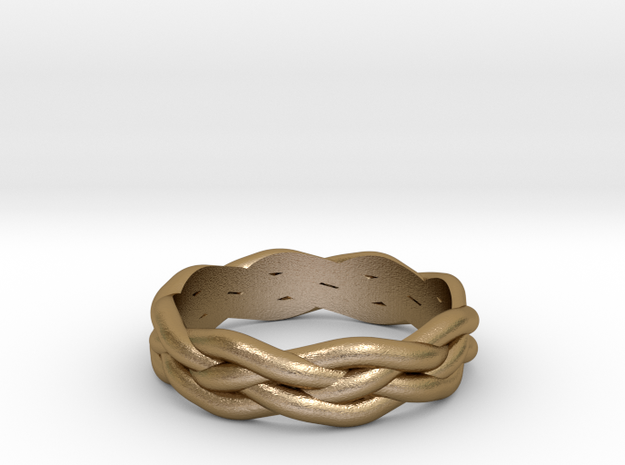 Braided Ring 7 N½ (other sizes available) 3d printed