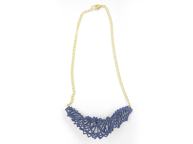 Arithmetic Necklace 3d printed Custom Dyed Nylon (Azurite)