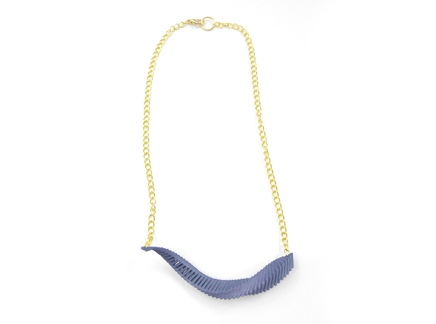 Arithmetic Necklace (Bar) 3d printed Custom Dyed Color (Azurite)