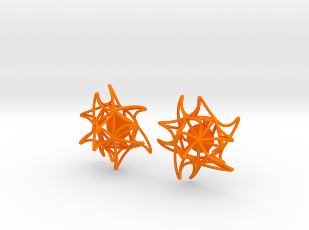 Aster Earrings (Studs) 3d printed