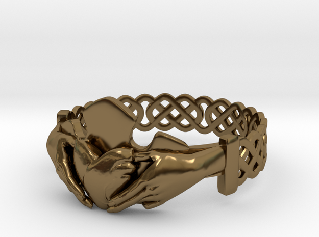 Claddagh Ring Size 7 1/4 3d printed