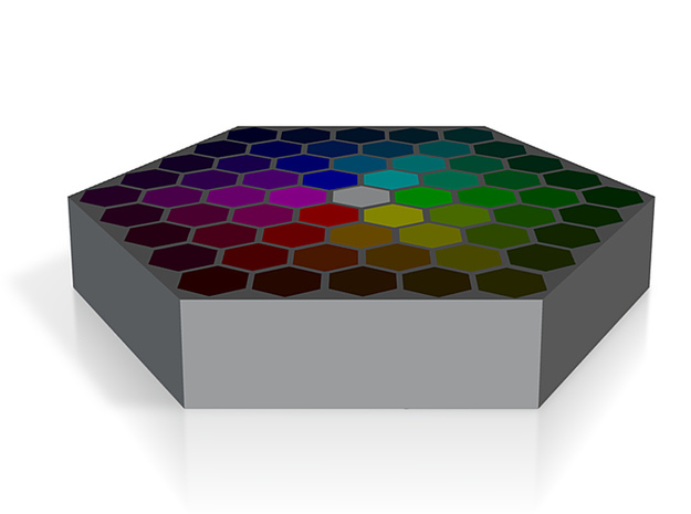 Color Wafer 2 - Flat 3d printed
