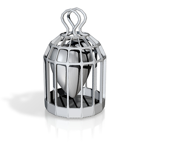 caged Heart 3d printed