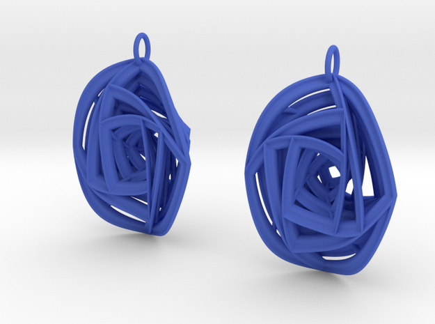 Rose Stripe Earrings 3d printed