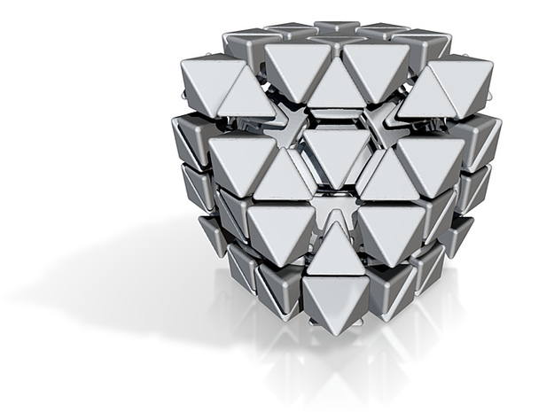 Master Face Turning Octahedron 3d printed