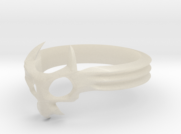 Skull Mask Ring -v3 3d printed