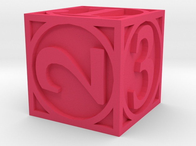 Circle Theme Die6 3d printed