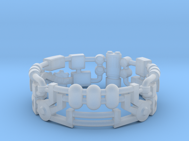 Mecha Ring (size 10ish in metal) 3d printed
