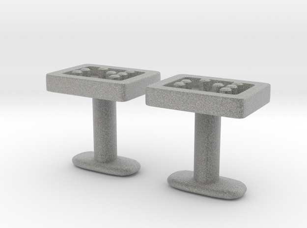 Braille cufflinks straight 3d printed