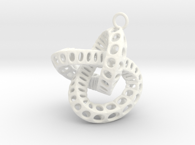 perforate torus earring 1 3d printed