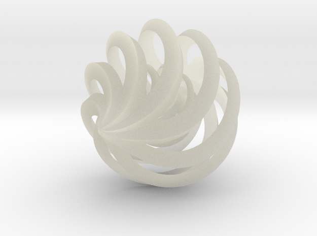 Spiral Cage Ornament, Nested 3d printed
