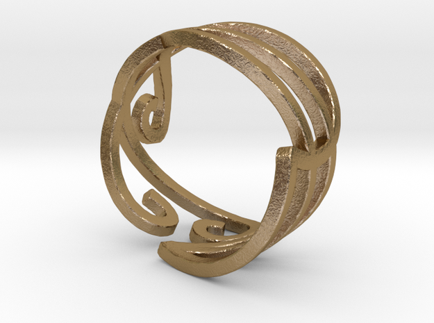 Elven Swirly Ring 3d printed