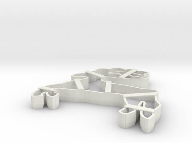 gingerbread cake form cookie cutter 3d printed