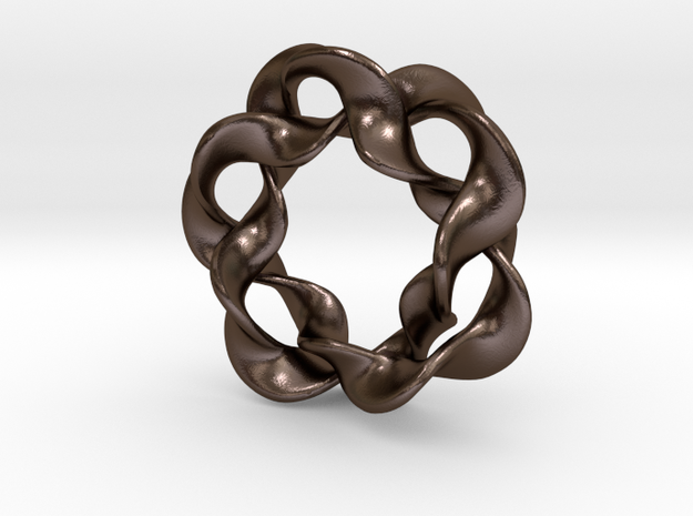Interlocked waves 3d printed