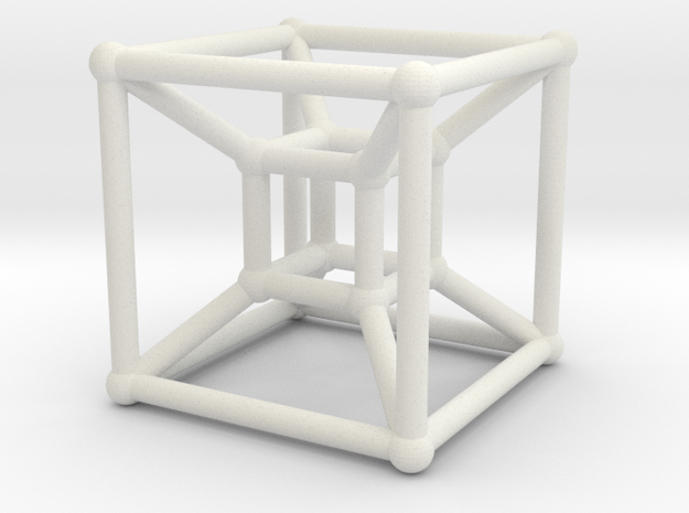 8-cell (Hypercube) 3d printed Rendering