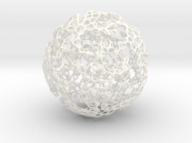 Linked Voroni 3d printed interlinked stars hidden in voroni