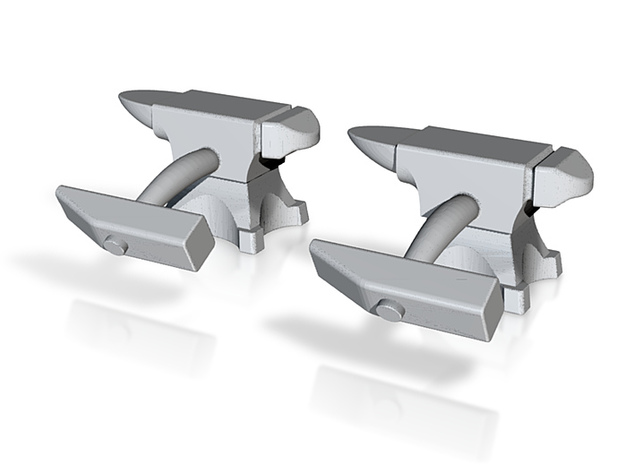 Anvil Cufflinks 3d printed